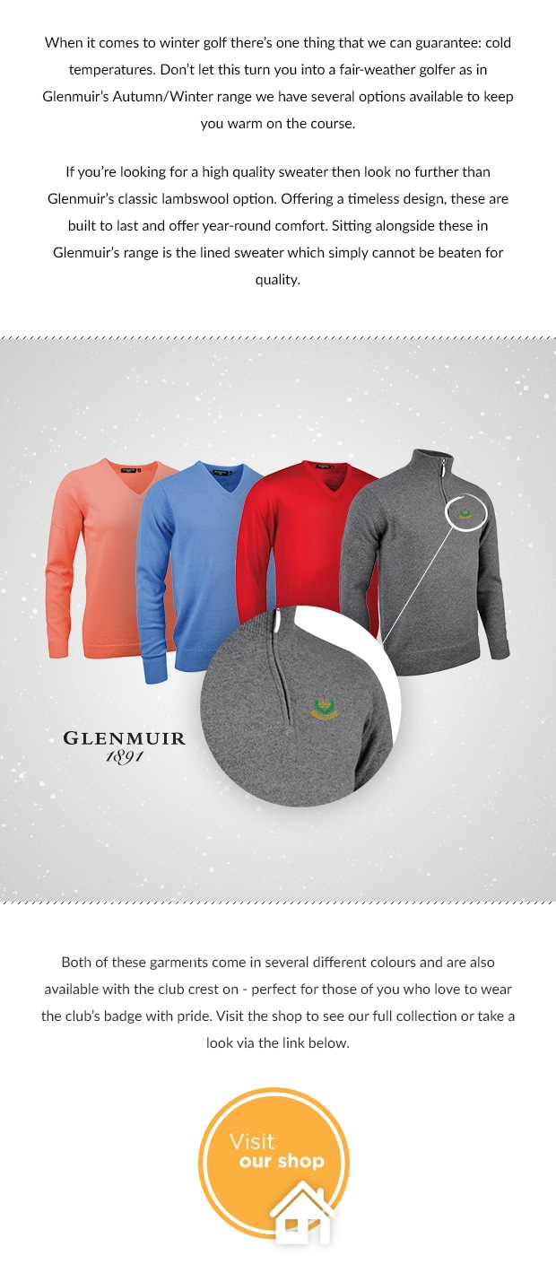 Glenmuir AW16 Lambswool Sweaters