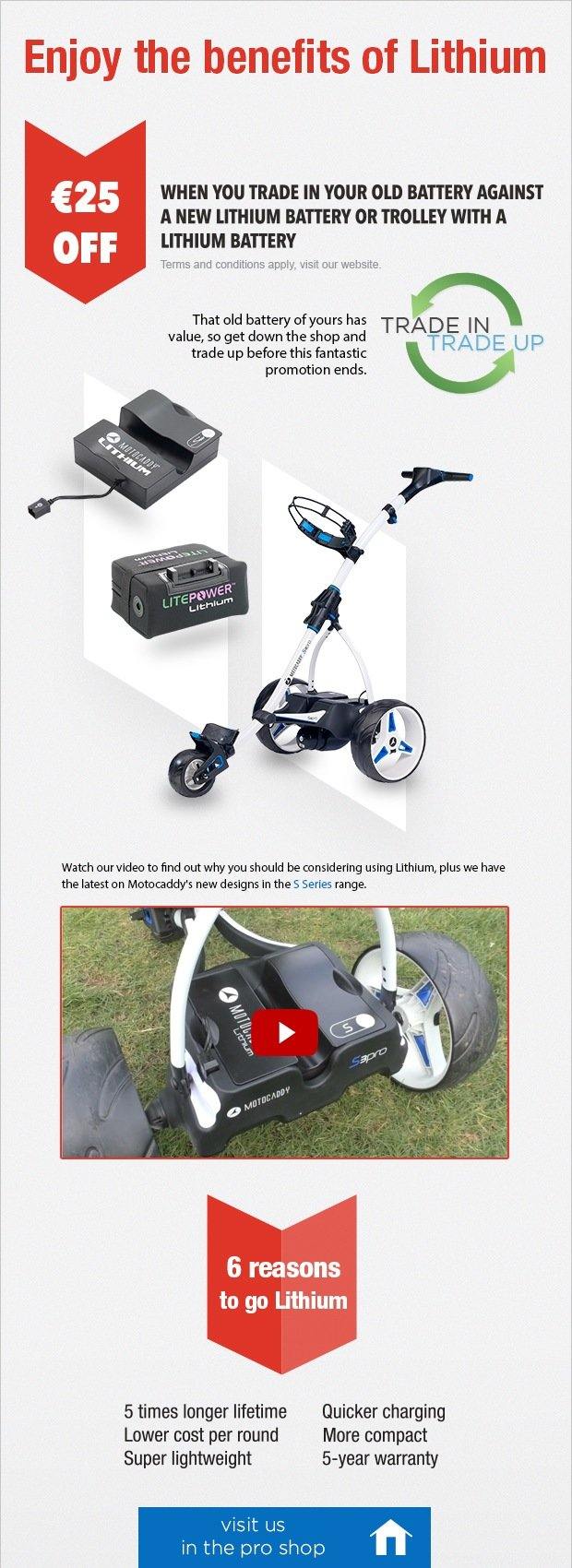 Motocaddy Battery Trade In - save €25