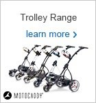 Motocaddy electric trolley range