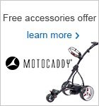 Accessories worth €44.98 with a Motocaddy