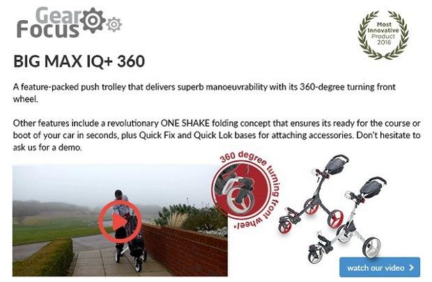 BIG MAX IQ+ 360 push trolley