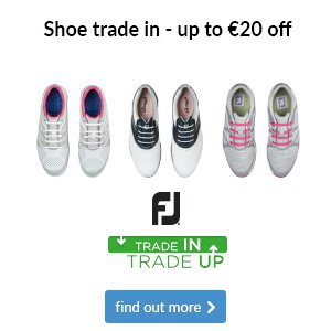 Get up to €20 off a new pair of ladies FJ shoes when you trade in your old pair